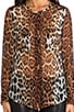 Lynn Contrast Magic Leopard Blouse, view 4, click to view large image.