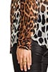 Lynn Contrast Magic Leopard Blouse, view 5, click to view large image.
