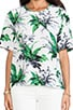 Logan Paradise Palm Print Blouse, view 4, click to view large image.