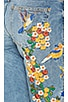 Embroidered Girlfriend Jean, view 6, click to view large image.