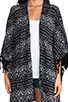 Patterned Kimono Cardigan, view 4, click to view large image.