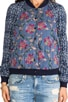Floral Printed Baseball Jacket, view 5, click to view large image.