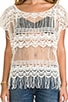 Kali Crochet Tee, view 4, click to view large image.