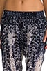 Printed Silk Perfect Pant, view 4, click to view large image.