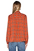 x REVOLVE Naomi Tie Neck Blouse, view 3, click to view large image.