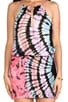 Canoa Blouson Cut Away Smock Band Mini Dress, view 5, click to view large image.