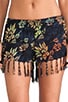 Playa Drawstring Fringe Short, view 4, click to view large image.
