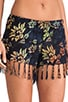 Playa Drawstring Fringe Short, view 5, click to view large image.