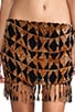 Bronte Smock Fringe Mini Skirt, view 4, click to view large image.
