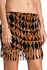 Bronte Smock Fringe Mini Skirt, view 5, click to view large image.
