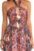 Printed Maxi Halter Dress, view 4, click to view large image.