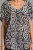 Snake Skin Printed Savory Silk Joann F Top, view 4, click to view large image.