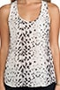 Snow Leopard Silk Rain B Tank, view 4, click to view large image.
