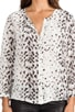 Snow Leopard Silk Purine Blouse, view 4, click to view large image.