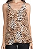 Gradient Leopard Print Silk Drew C Tank, view 4, click to view large image.