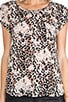 Rancher Leopard Print Silk Tee, view 4, click to view large image.