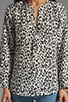 Peterson B Animal Print Blouse, view 3, click to view large image.