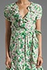 Allover Floral Wrap Dress, view 5, click to view large image.