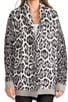 Wild Lynx Jacquard Cardi, view 4, click to view large image.