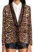 Flowing Leopard Blazer, view 6, click to view large image.