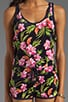 Aloha Floral Velour Romper, view 5, click to view large image.