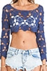 The Power Within Crochet Long Sleeve Top, view 4, click to view large image.