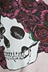 Jet Color Skull with Roses Sweatshirt, view 4, click to view large image.