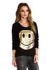 Jet Foil Diamond Happyface Sweatshirt, view 2, click to view large image.