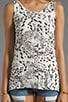 Claire Leopard Repeat Tank, view 3, click to view large image.