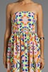 Printed Strapless Sun Dress, view 5, click to view large image.