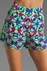 Printed High Waisted Shorts, view 4, click to view large image.