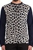 London Leopard Jersey Henley, view 4, click to view large image.