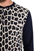 London Leopard Jersey Henley, view 5, click to view large image.