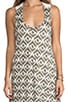 Ikat Print Crochet Back Hi-Low Dress, view 5, click to view large image.