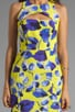 Ivy Print on Silk Cotton Faille Cut-Out Mini Dress, view 5, click to view large image.