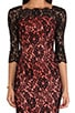 Floral Scalloped Lace Stella Dress, view 5, click to view large image.