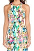 Hypnotic Print Racerfront Dress, view 5, click to view large image.