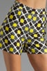 Anna Tile Print on Silk Linen Kelsey Short, view 4, click to view large image.