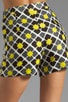 Anna Tile Print on Silk Linen Kelsey Short, view 6, click to view large image.