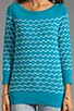 November Knit Sailor Stitch Sweater, view 3, click to view large image.