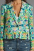 Kaleidoscope Print on Stretch Cotton Sateen Skinny Jacket, view 4, click to view large image.