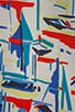 Sailboat Print Avery Top, view 4, click to view large image.