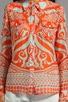 Mosaic Print Silk Elisa Epaulette Buttondown Top, view 3, click to view large image.