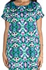 Optical Illusion Short Sleeve Tunic, view 5, click to view large image.