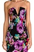 V-Front Bustier Dress, view 5, click to view large image.