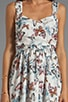Patterson J. Kincaid Simone Tie Back Dress, view 5, click to view large image.