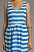 Sheer Bold Stripes Frock Dress, view 5, click to view large image.