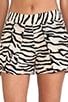 Tiger Print Shorts, view 4, click to view large image.