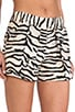 Tiger Print Shorts, view 5, click to view large image.