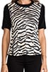 Tiger Print Jersey Combo Top, view 4, click to view large image.